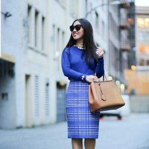 Gorgeous royal blue banana republic pencil skirt